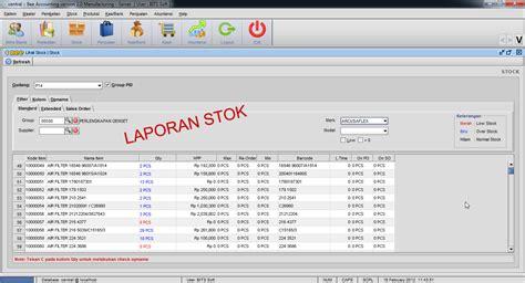 format laporan stok barang software akuntansi no 2 indonesia bee accounting