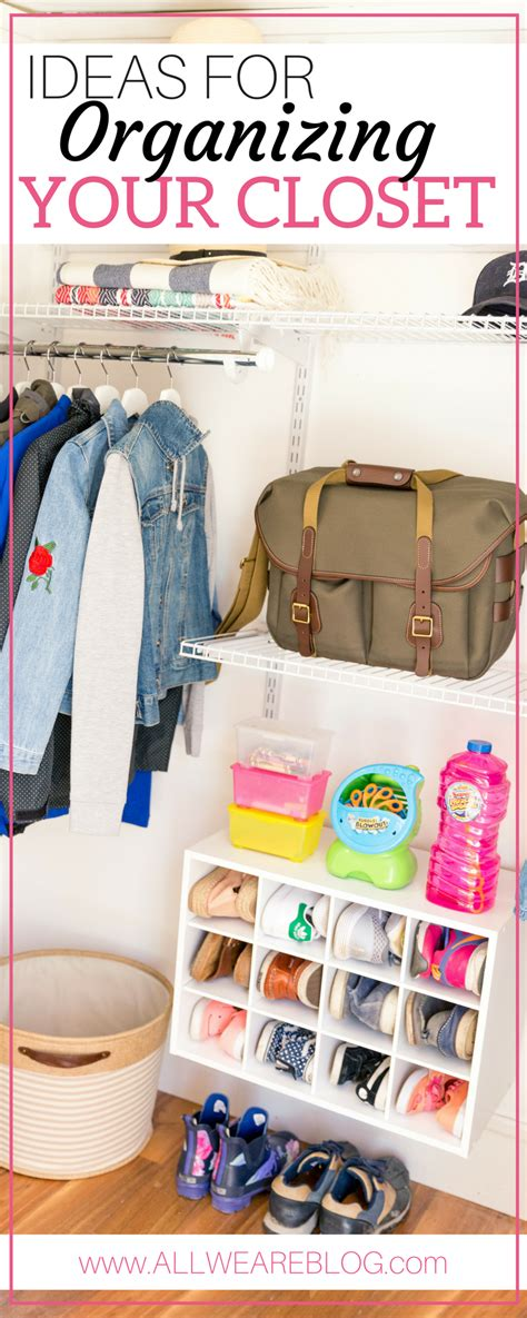 Organizing Our Closet With Rubbermaid All We Are | organizing our closet with rubbermaid all we are