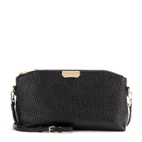 Burberry Gibbs Leather Shoulder Bag by Burberry Chichester Leather Shoulder Bag In Black