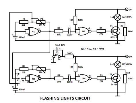 blinking light circuit diagram lights circuit