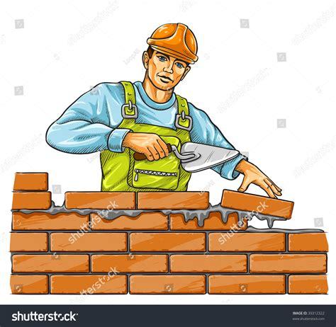 builder derby tool building brick stock vector