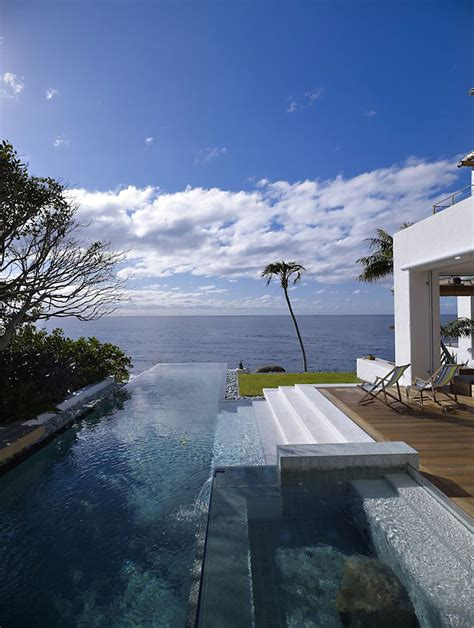 infinity pool terrace views beautiful waterfront home in