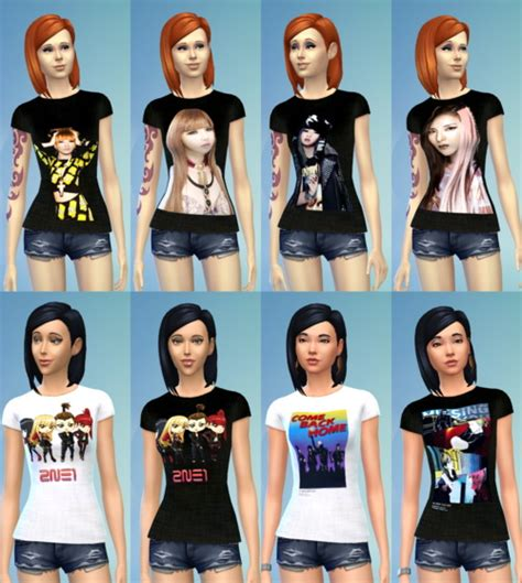 Tshirt Attack The Pack 15 2ne1 t shirt non default recolors at darkiie