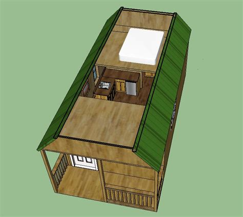 Small Spanish House Plans by Graceland 12 X 24 Deluxe Lofted Barn Cabin Floor Plan 12 X