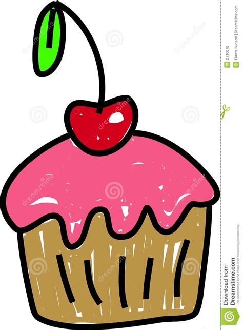 kuchen zeichnung kirschkleiner kuchen vektor abbildung bild imbisse