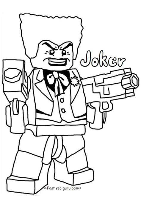 Printable Lego Batman Joker Coloring Pages For Boy Coloring Pages For Boys Lego Wars Free