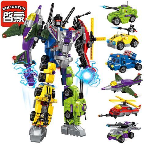Bricks Robot 4 In 1 Combination Transform Toys Mainan Lb058 aliexpress buy enlighten mecha educational building