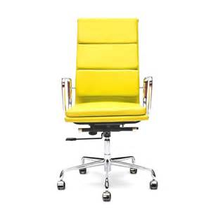 yellow soft pad style executive office chair cult uk
