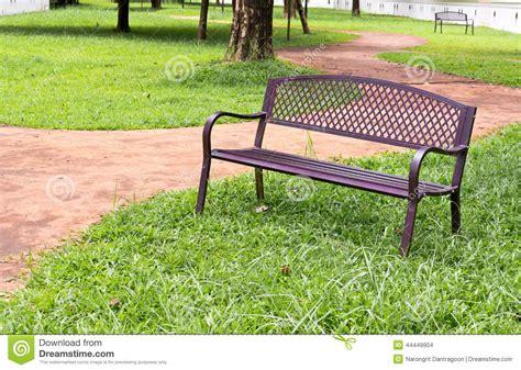 public park benches wooden park bench at the public park image stock photo