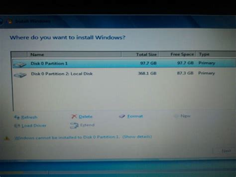 format gpt style cant install windows 7 or 8 1 the selected disk is of
