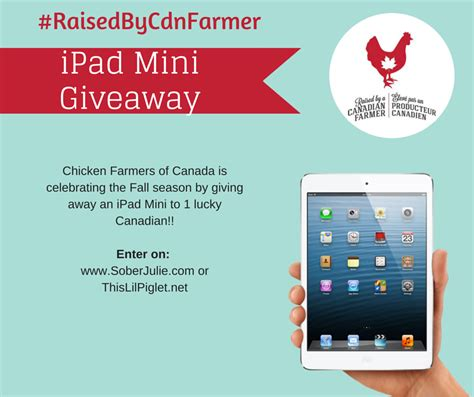 Ipad Giveaway Canada - canadian chicken giveaway raisedbycdnfarmer this lil piglet