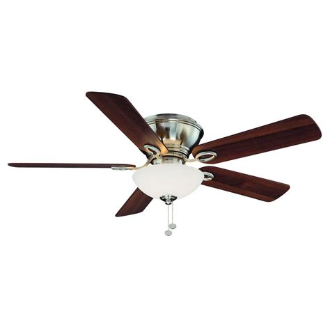 candelabra ceiling fan hton bay adonia 52 quot brushed nickel ceiling fan frosted