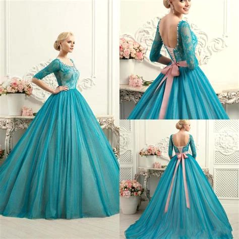 Colourful Wedding Gowns by New Teal Lace Gown Quinceanera Dresses Lace