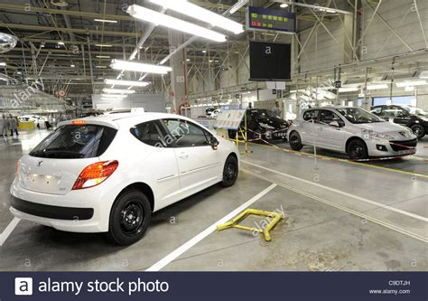 peugeot factory the new model peugeot 208 was introduced in psa peugeot