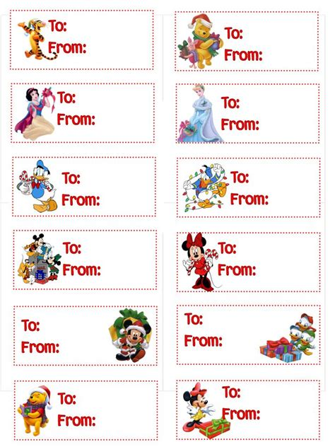 printable tinkerbell christmas gift tags dress up kids christmas gifts with their favorite disney