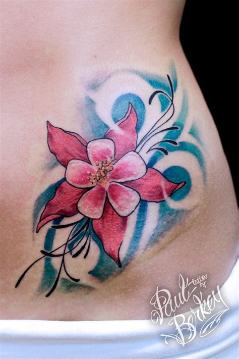 lily swirl tattoo designs swirls and on a hip tattoos by paulberkey