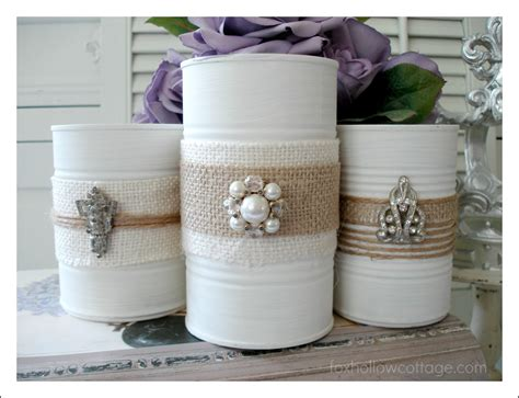 tin can crafts for shabby vintage tin can craft fox hollow cottage
