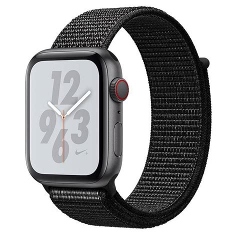 44mm Apple Series 4 Cellular by Apple Nike Series 4 Gps Cellular 44mm Space Grey Aluminium With Black Nike Sport