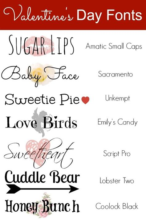 valentine s day fonts scrapbooking