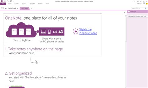 microsoft office notebook layout for pc first look onenote 2013 ars technica