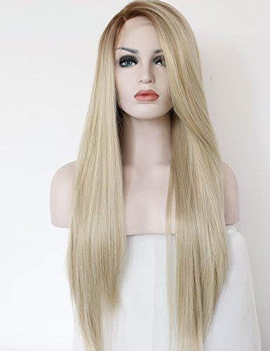 hair blonde front black back k ryssma fashion ombre blonde glueless lace front wigs 2