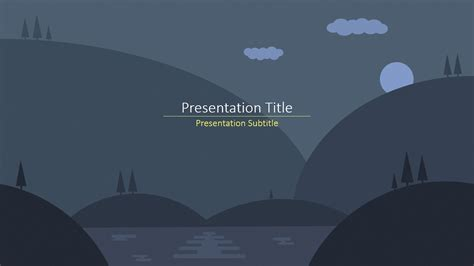 creating a presentation using a template