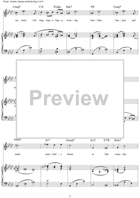 baubles bangles and chords baubles bangles and sheet for piano and