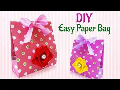 How To Make A Handmade Paper Bag - craft ideas how to make diy handmade paper gift bag