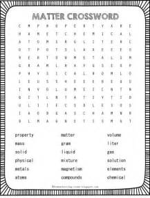 freebie matter crossword includes states of matter