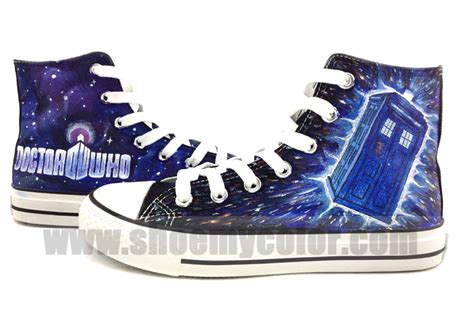 dr who sneakers doctor who painted shoes doctor who photo 34836852