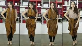 tutorial kreasi kain batik d jadiin rok ini dia tutorial menggunakan rok lilit batik yang praktis