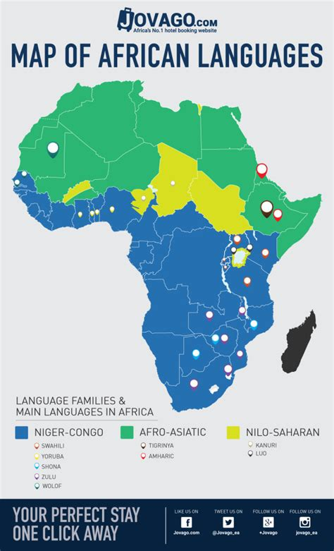 map of speaking countries in africa the languages of africa