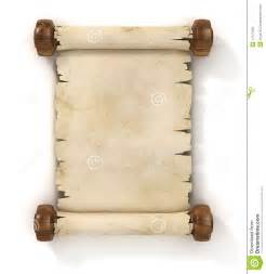 parchment scroll 3d illustration stock photo image 17477680
