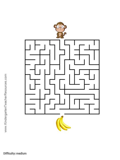 printable monkey maze free colored monkey mask coloring pages