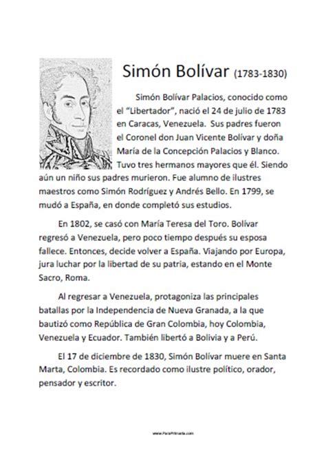 imagenes sobre la vida de simon bolivar biograf 237 a corta de sim 243 n bol 237 var para imprimir gratis