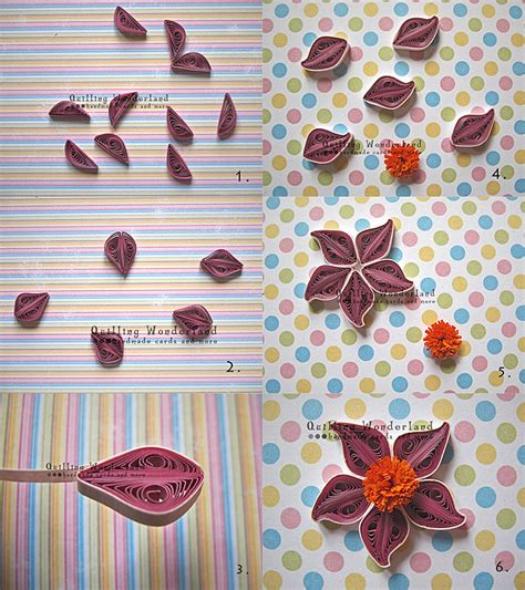 How To Make Flowers With Paper Quilling - tutorial quilled purple flower easy to follow picture
