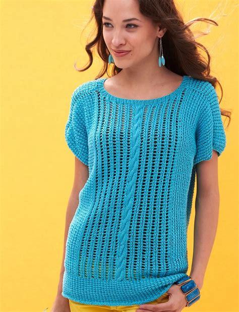 knitting patterns summer tops yarnspirations patons breezy dolman top patterns