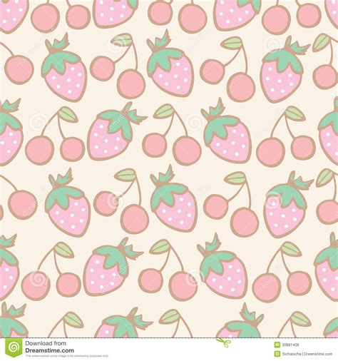 cherry pattern vector art seamless pattern of strawberry and cherry cartoon royalty