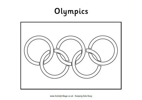 olympic flag colouring page