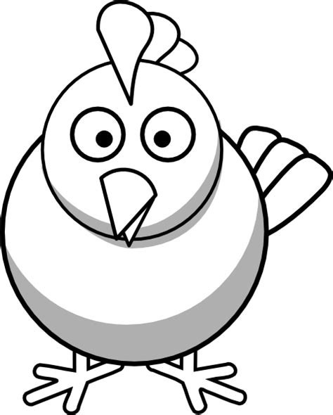 chicken face coloring page cute chicken clipart black and white clipart panda