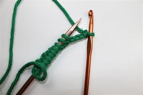 crochet chain cast on for knitting crochet cast on tutorial for knitting