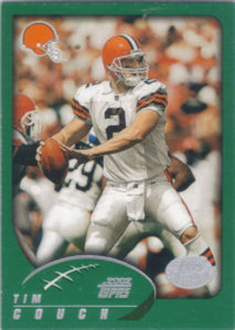 tim couch football cleveland browns 2002 topps football cards