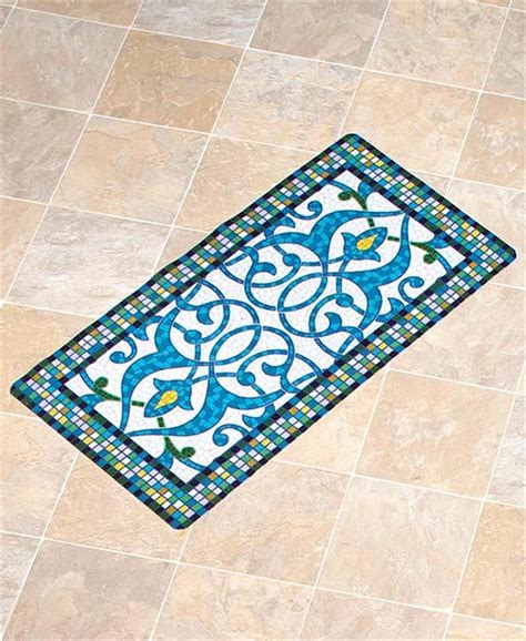rugs for decks easy drainage mosaic design outdoor area runner or accent rug for patio or deck ebay