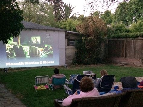 backyard movie projectors wood projects how to build dresser frame