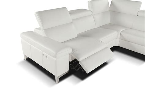 modern leather sofa recliner megane modern sectional right facing chaise giuseppe