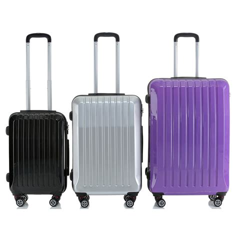Solid Luggage Padlock Series R 7819 Colour shell abs trolley 4 spinner wheels suitcase luggage