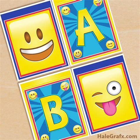 printable emoji banner 15 best emoji printables images on pinterest birthdays