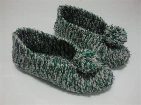 pantuflas hechas a mano zapatos deportivos para damas lindas pantuflas a crochet para adultos de tercera edad