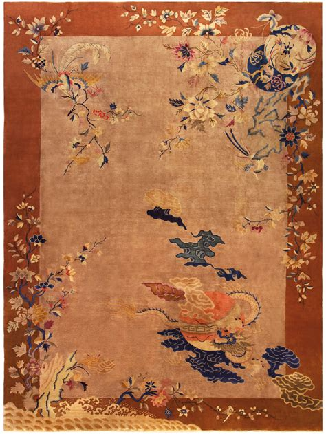 japanese pattern rug vintage chinese decorative area rug bb5193 by doris leslie