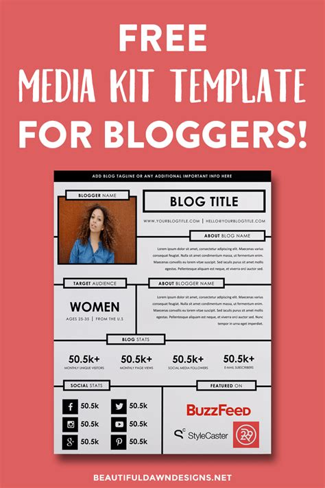 advertising media kit template advertising media kit template new 73 best blogging media